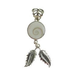 Teardrop Ocean Shell Pendant Natural Organic Coconut Wooden Shiva Eye Necklace