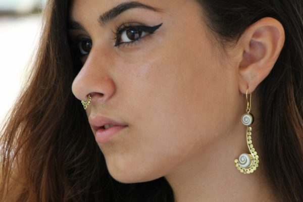 Unique Brass Fake Septum For Non Pierced Nose Ring Clip On Cocoroots