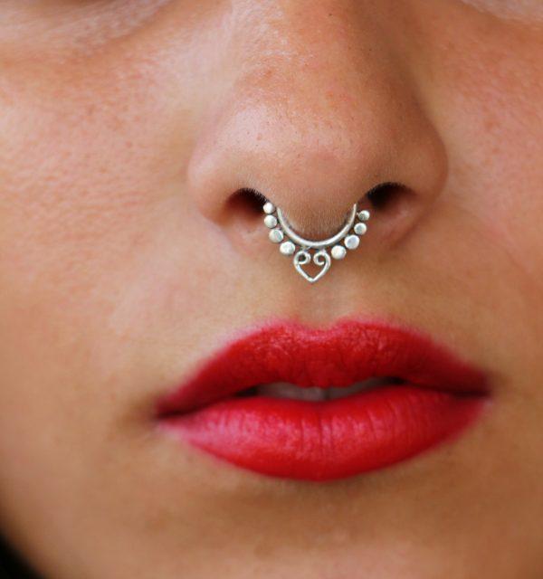 Unique Silver 925 Septum Ring Nose Piercing 1mm 18 Gauge Cocoroots